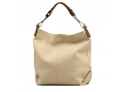 Kožená kabelka Cira béžová