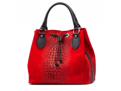 Kožená kabelka Flaminia červená