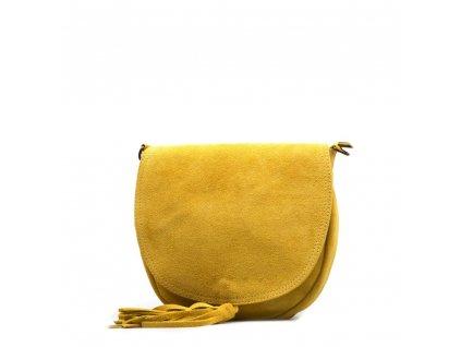Kožená crossbody kabelka Mirea žlutá