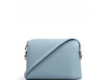 Kožená crossbody kabelka Violeta světle modrá