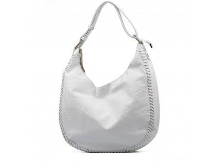Kožená kabelka Gea bílá