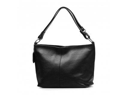 Kožená kabelka Lorela černá