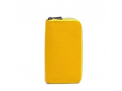 Kožená peněženka Pety žlutá