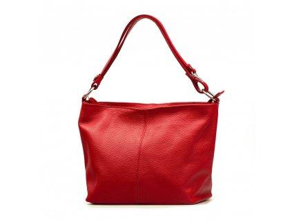 Kožená kabelka Lorela červená