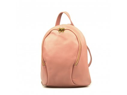 Kožený batůžek Tessa pudrově růžový