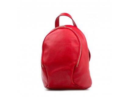 Kožený batůžek Tessa červený