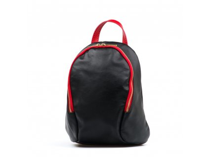 Kožený batůžek Tessa černo-červený