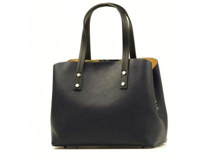 Kožená kabelka Fabia tmavě modrá