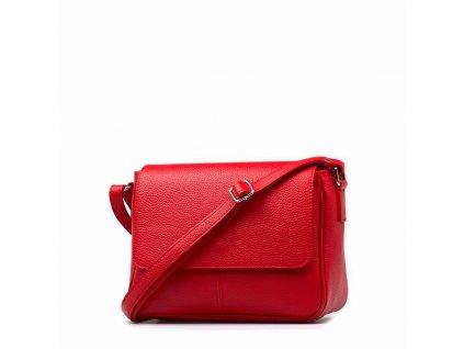 Kožená crossbody kabelka Marion červená