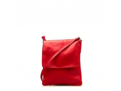 Kožená crossbody kabelka Selma červená