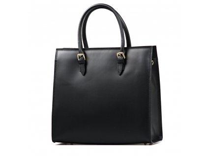 Kožená kabelka Vilma černá