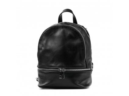 Kožený batůžek Tilda černý