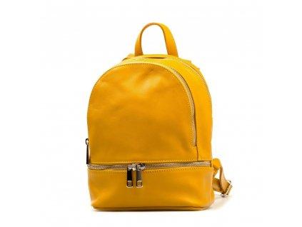 Kožený batůžek Tilda žlutý