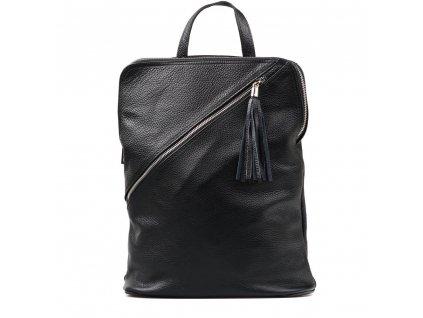 Kožený batůžek Zaira černý
