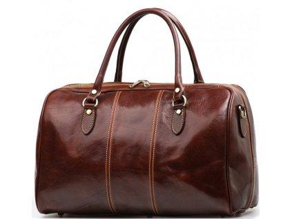 Kožená cestovní taška Verity hnědá
