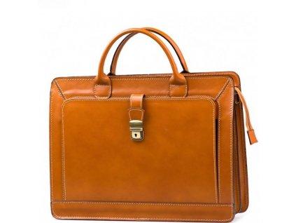 Pánská kožená taška Firenze koňaková