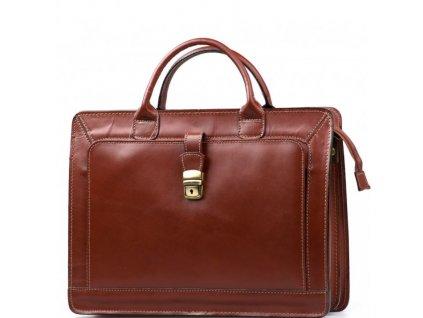 Pánská kožená pracovní taška Firenze tmavě hnědá