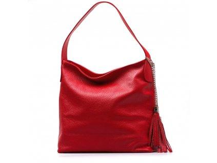 Kožená kabelka Dilia červená