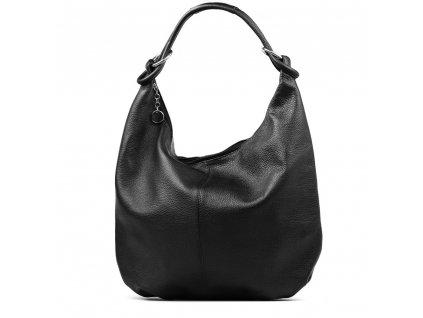 Kožená kabelka Elisa černá