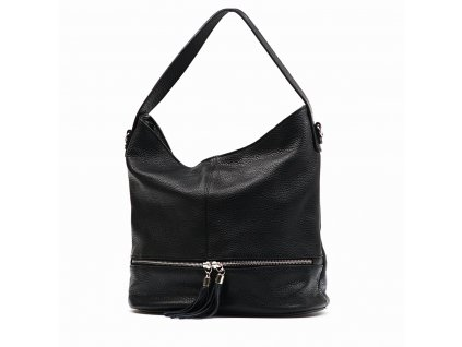 Kožená kabelka Klára černá