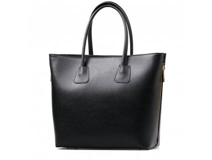 Kožená shopper kabelka Frany černá