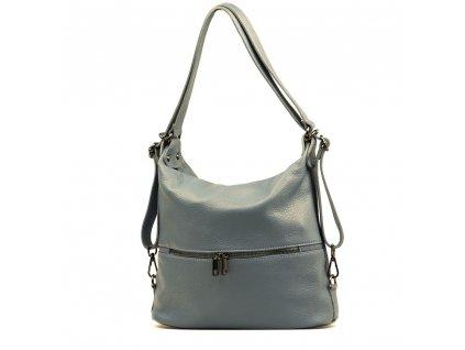 Kožená kabelka - batůžek Ivora džínově modrá