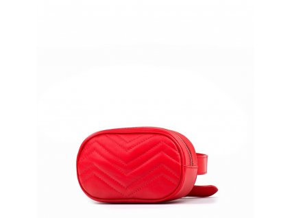 Kožená ledvinka Paola červená