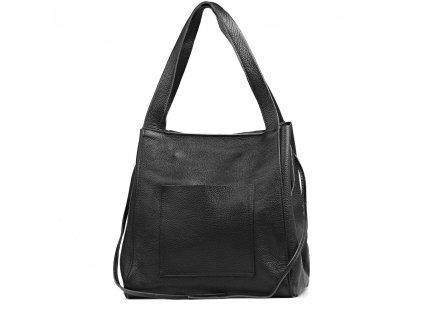 Kožená maxi kabelka Annie černá