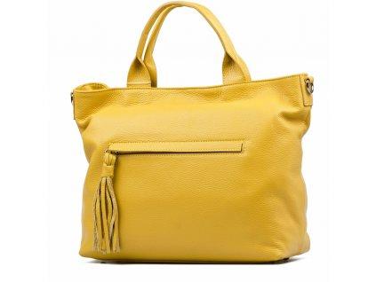 Kožená kabelka Viola žlutá