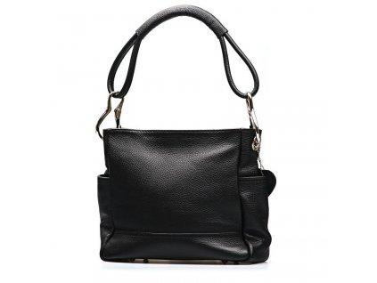 Kožená kabelka Sheila černá