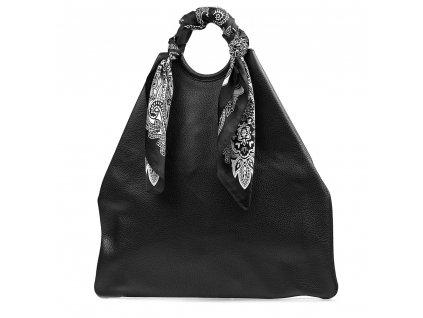 Kožená maxi kabelka Conny černá
