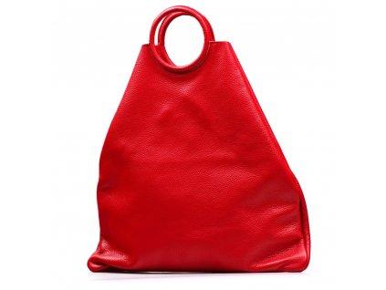 Kožená maxi kabelka Conny červená
