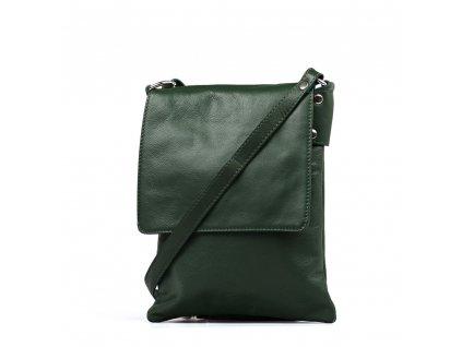 Kožená crossbody kabelka Taisa zelená