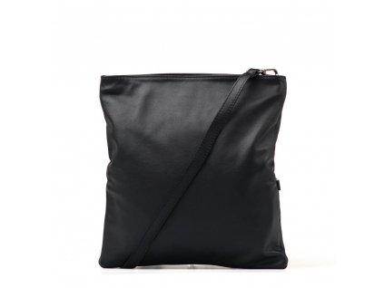 Kožená crossbody kabelka - psaníčko Lana černá