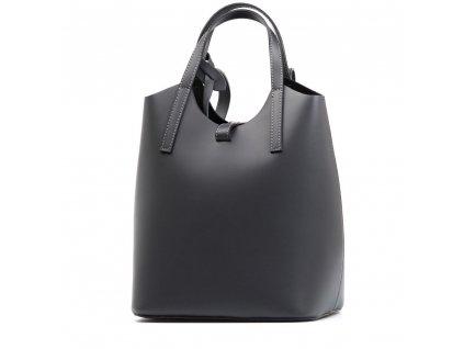 Kožený batůžek Lima tmavě šedý