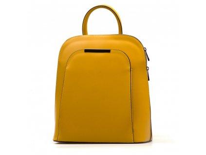 Kožený batůžek Ulma hořčicově žlutý