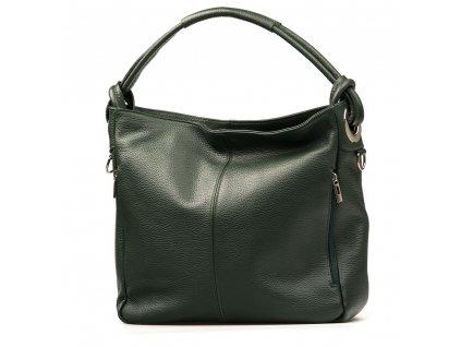 Kožená kabelka Acilia zelená