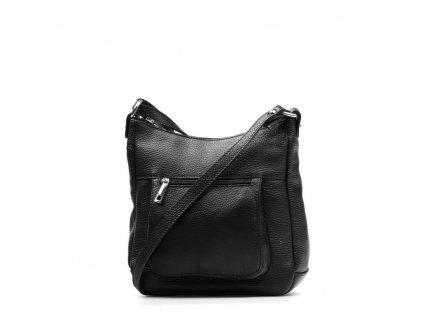 Kožená crossbody kabelka Creta černá