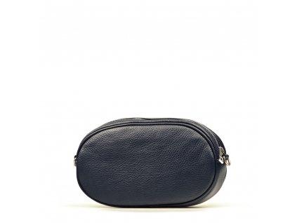 Kožená ledvinka - crossbody kabelka Michela tmavě modrá