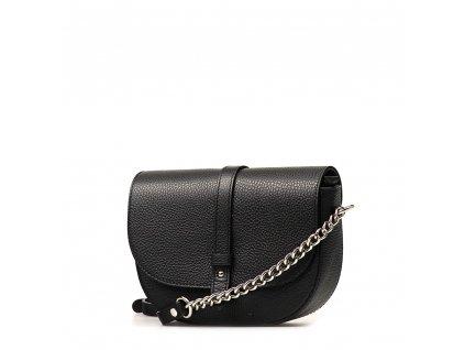 Kožená crossbody kabelka Elide černá
