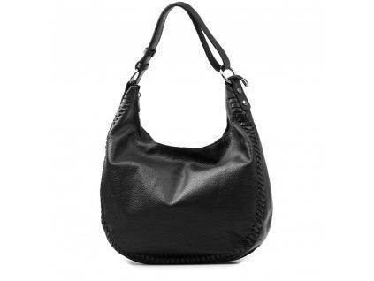 Kožená kabelka Gea černá