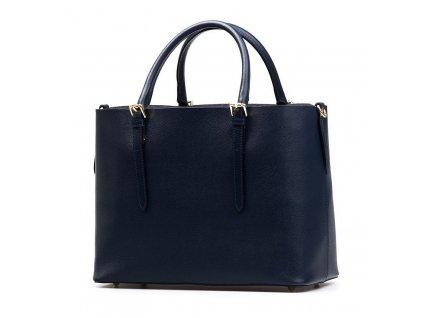 Kožená kabelka Emma tmavě modrá