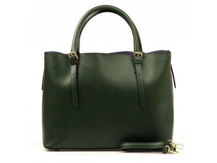 Kožená kabelka Emma zelená