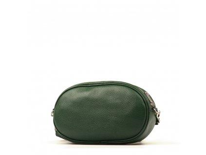 Kožená ledvinka - crossbody kabelka Michela zelená