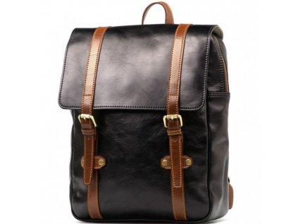 Pánský kožený batoh Zulio černo - hnědý