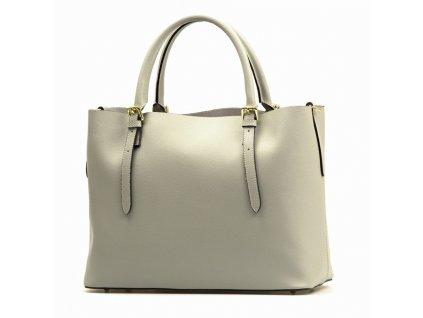 Kožená kabelka Emma šedá