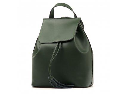 Kožený batůžek Celine zelený