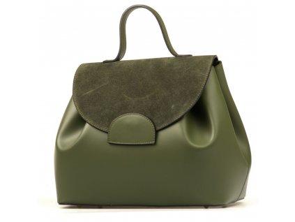 Kožená kabelka Tilly zelená