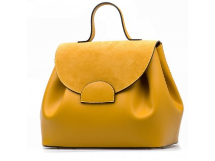 Kožená kabelka Tilly žlutá
