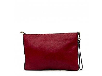 Kožená kabelka s kožešinou Bruna bordó
